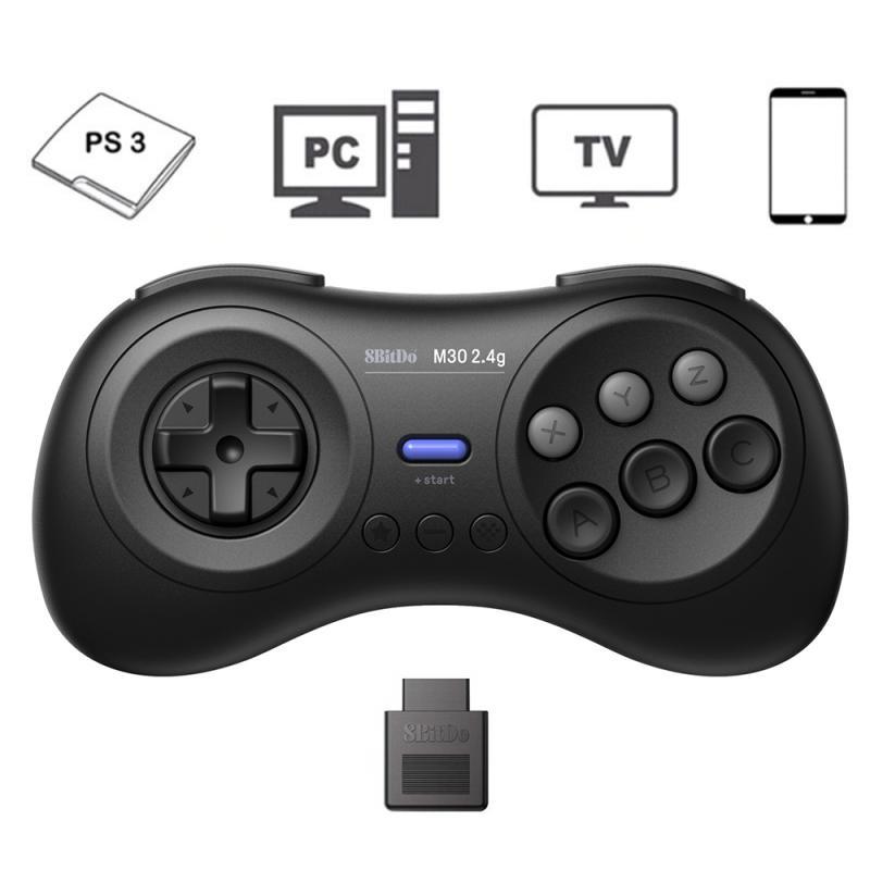 Мобильный джойстик USB Беспроводной геймпад 8bitdo восемь бит зал M30 2,4G MD игровой автомат проводного подключения компьютера переключатель