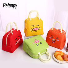 Small Pig Portable Lunch Bag Thermal Insulated Lunch Box Tote Cooler Bag Bento Pouch Lunch Container School Food Storage Bags oxford thermal lunch bag insulated cooler storage women kids food bento bag portable leisure accessories supply product stuff
