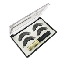 5 Magnetic Eyelashes with 3 Magnets Handmade 3D/6D Lashes Natural False Magnet Gift Box Wholesale