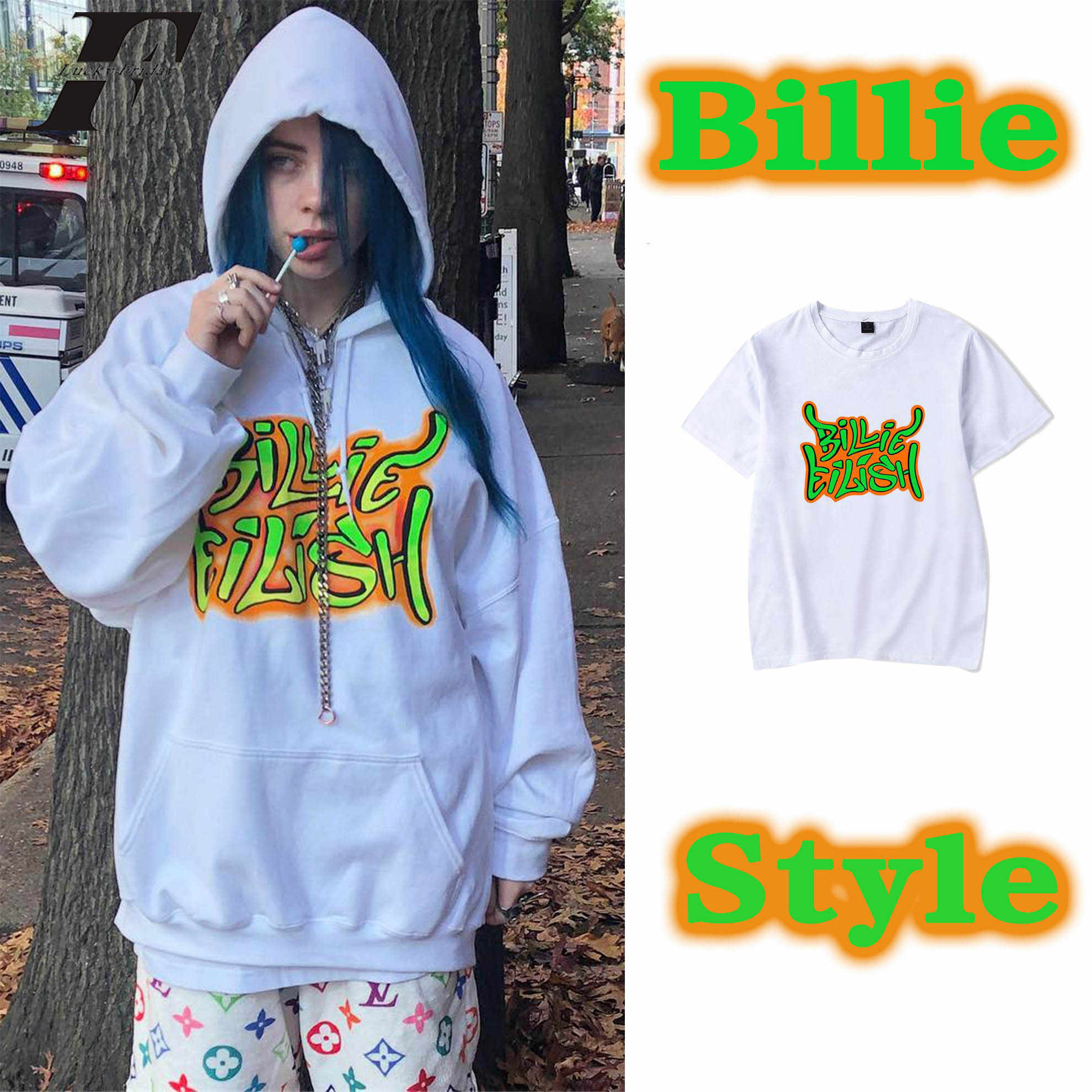 billie eilish t shirt Men women streetwear hip hop Tee Shirt Homme Short Sleeve Men's T Shirts Male TShirts camisetas hombre