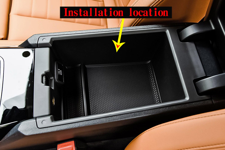 for BMW 3 Series G20 G38 325 2019 2020 Year Car Center Console Armrest Storage Box with Colourful M Logo