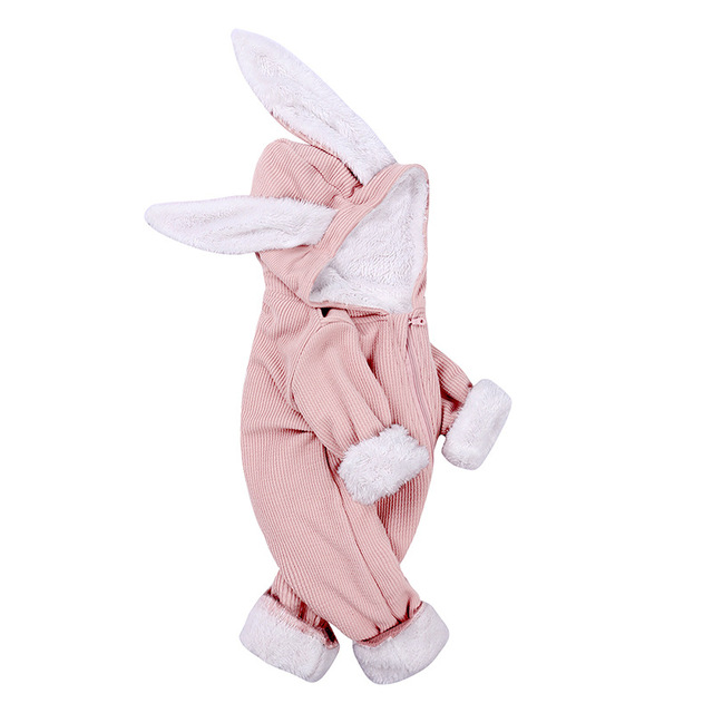 New Autumn/Winter Infant Rompers Baby Girl Boys One-pieces Newborn Body Suit Baby Pajama Rabbit Ears Cute Jumpsuit Outfits 2