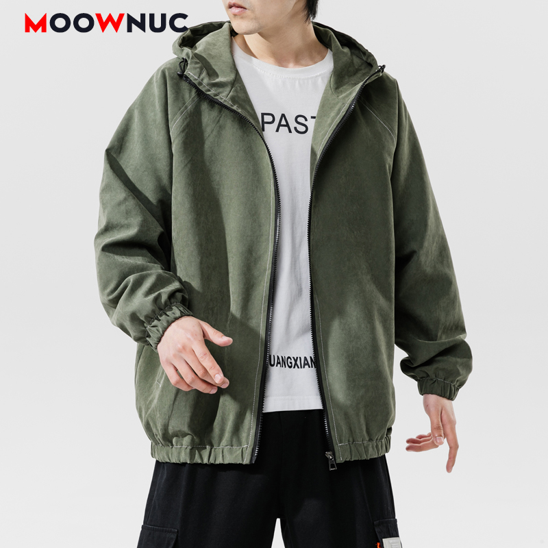 Jackets Loose Solid Hat Men's Clothes Hombre Spring New 2020 Youth Street Dress Boys Kpop Fashion Casual Hip Hop MOOWNUC MWC