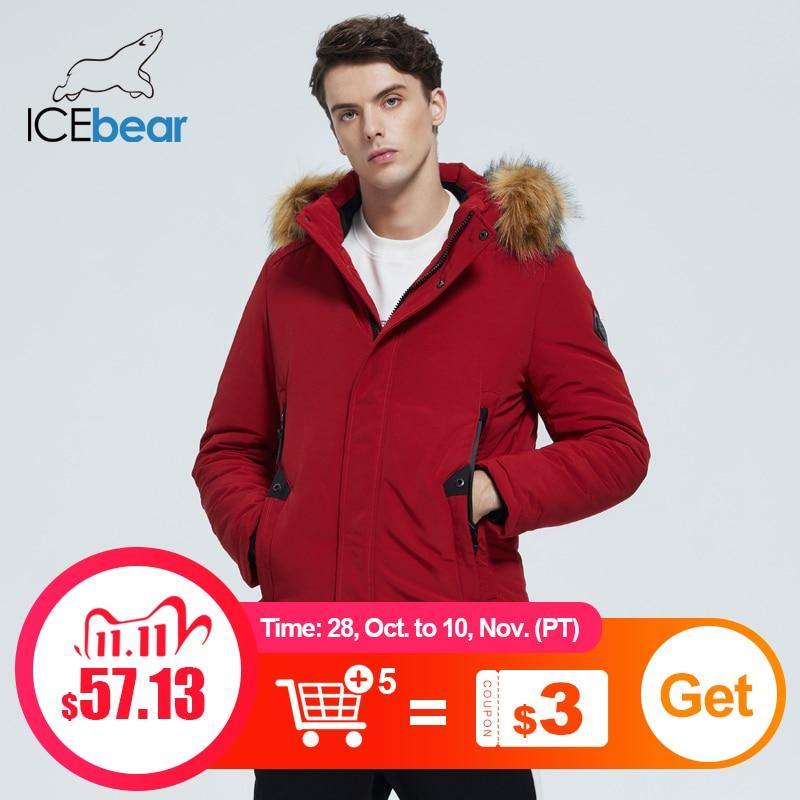 ICEbear 2020 новые зимние мужские куртки высокого качества с меховым воротником куртки модной мужской одежды марки одежды MWD20857D|Парки| | АлиЭкспресс