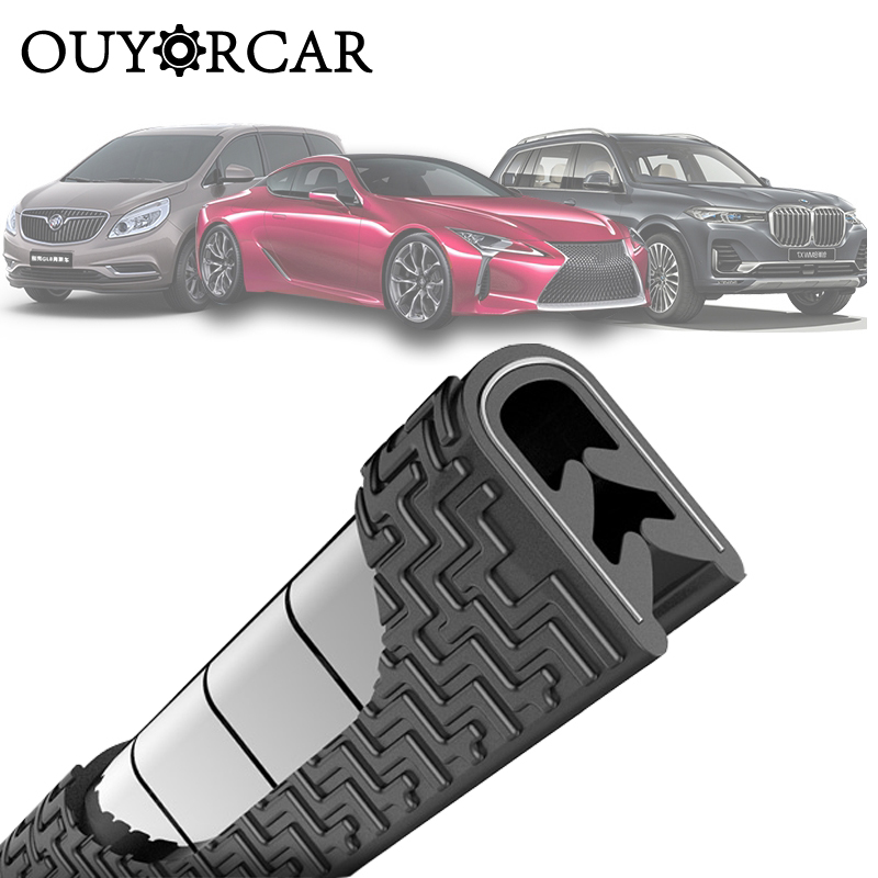 Universal Car Door Edge Scratch Protector 5M Sealing Strip Guard Trim Automobile Door Stickers Decoration Protector Accessories