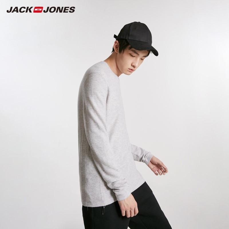 JackJones Men's Round Neck Wool Slim Fit Sweater Menswear Basic 218424515