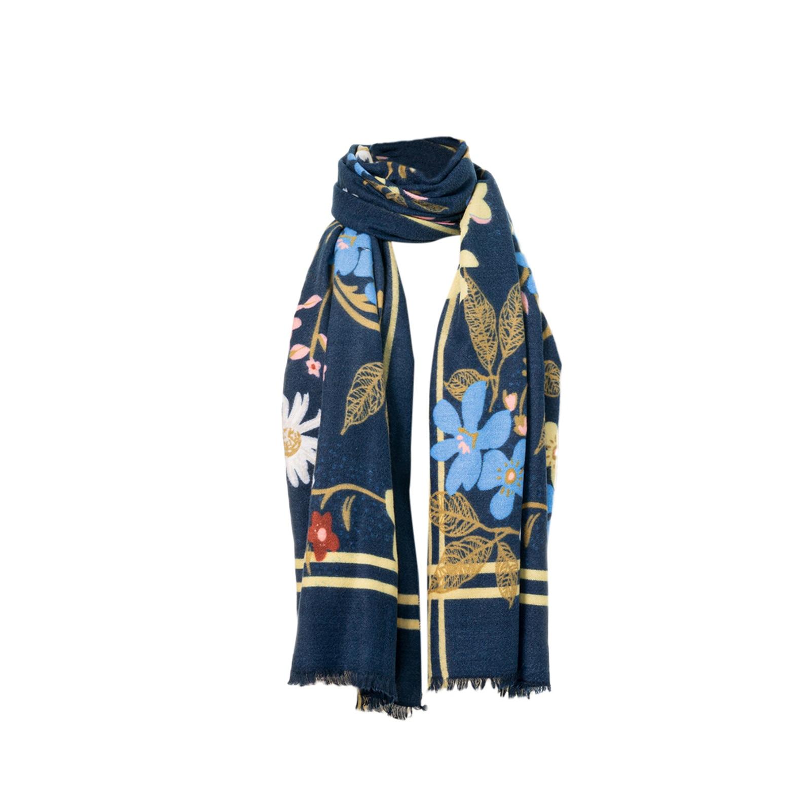 Women Long Soft Wrap Casual Warm Scarves Shawls Fashion Floral PrinteScarf 2020 Multi-Purpose Scarf шарфов шарф женский