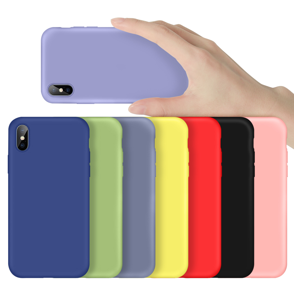 Luxury <font><b>Original</b></font> Official Silicone NO LOGO <font><b>Case</b></font> For <font><b>iPhone</b></font> 7 8 Plus Liquid <font><b>Cases</b></font> For Apple <font><b>iPhone</b></font> X XS Max XR 6 6S Plus 7 8 Cover image