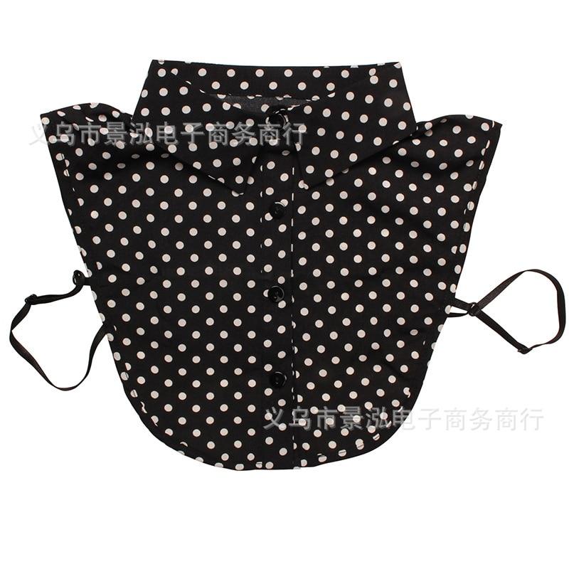 Dotted Monochrome False Collar Popular Pattern All Seasons Small Clothes Shirt Collar Colar