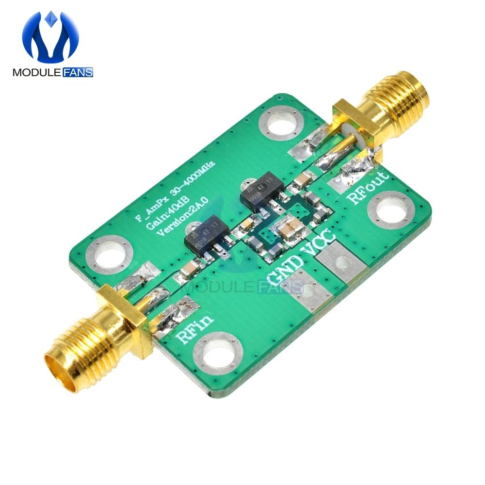 40dB Gain RF Broadband Amplifier Board AMP Module for FM HF VHF/UHF Ubs High Frequency Gain 30-4000MHz