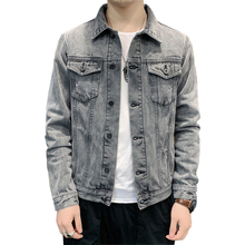 2020 Autumn Men Denim Jacket Trendy Fashion Bomber Thin Ripped Cowboy Jacket Mens Slim Fit Jeans Jackets