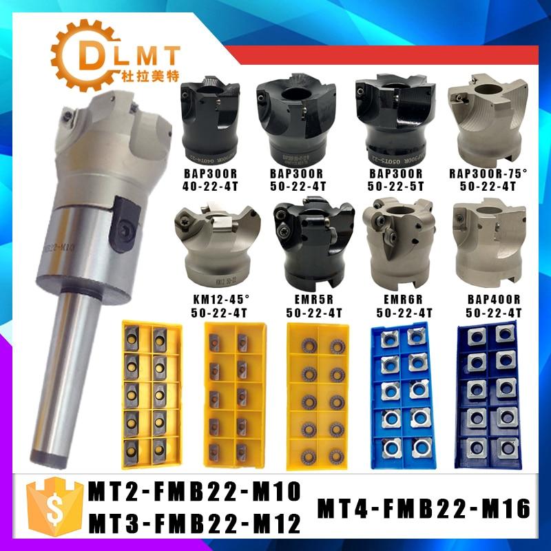 Nuevo MT2 FMB22 MT3 FMB22 MT4 FMB22 Vástago BAP300R 400R 50mm Fresa CNC Fresa + 10 piezas APMT1604 1135 Insertos para herramienta eléctrica