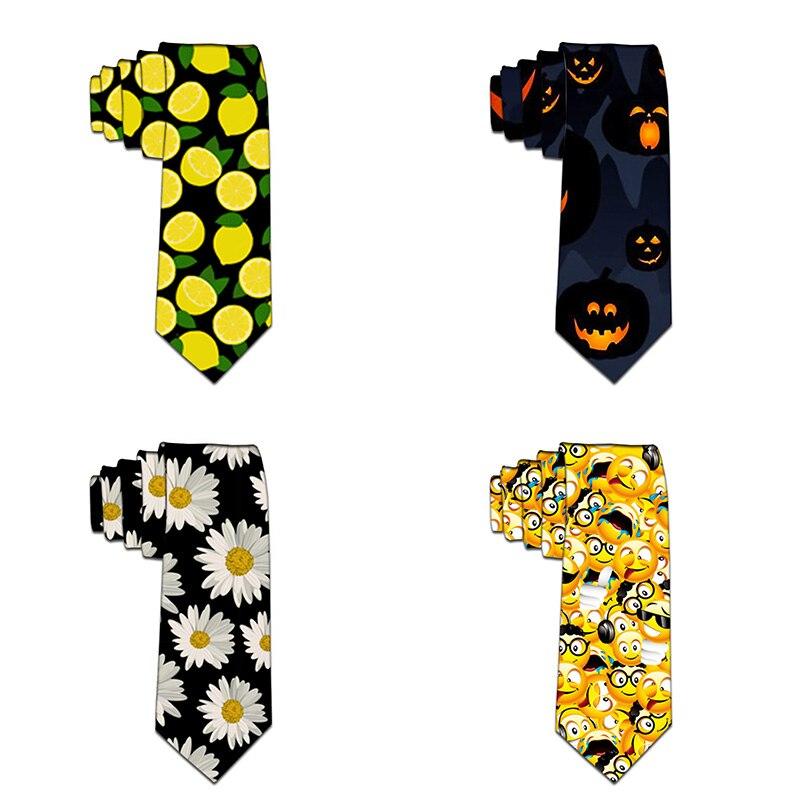 Halloween Neckties 3D Printed Tie For Men Quality Polyester Tie Necktie Slim Tie For Party Business Accessories 5LD45