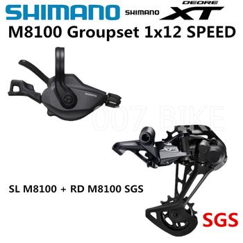 Zestaw grupowy SHIMANO DEORE XT M8100 zestaw rowerowy 1 #215 12-biegowy SL + RD M8100 przerzutka tylna m8100 dźwignia zmiany biegów tanie i dobre opinie Groupset 12 prędkości 10-45T 10-51T Przerzutki Stop