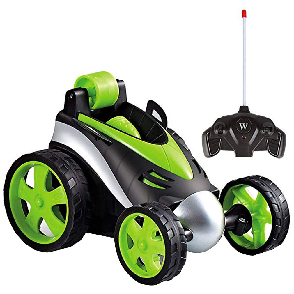 Wireless Remote Control Tumbling Stunt Car Dump Truck Boy Kids Stalls Electric Toy Cross Explosion Models