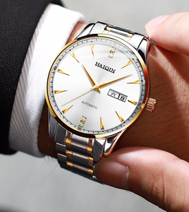 Image 4 - HAIQIN Mens watches automatic mechanical Mens Watches top brand luxury watch men wirst watch business clock 2019 Reloj hombres