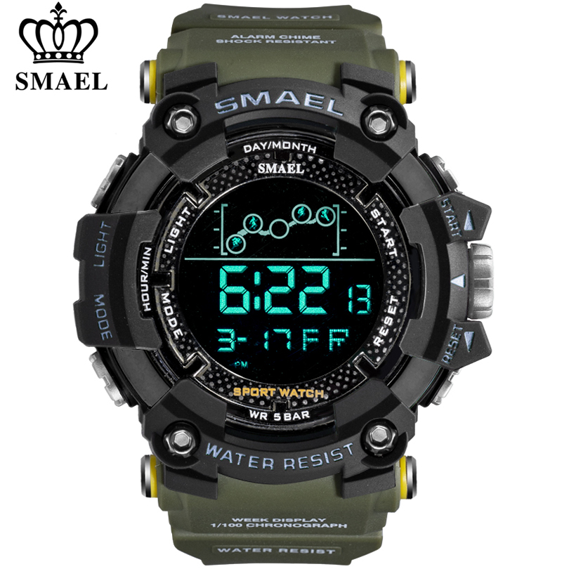 SMAEL Mens Watches New Fashion Casual LED Digital Outdoor Sports Watch Men Multifunction Student Wrist watches Relogio Masculino|Digital Watches|   - AliExpress