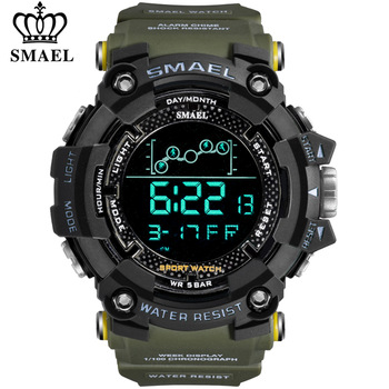 SMAEL Mens Watches New Fashion Casual LED Digital Outdoor Sports Watch Men Multifunction Student Wrist watches Relogio Masculino