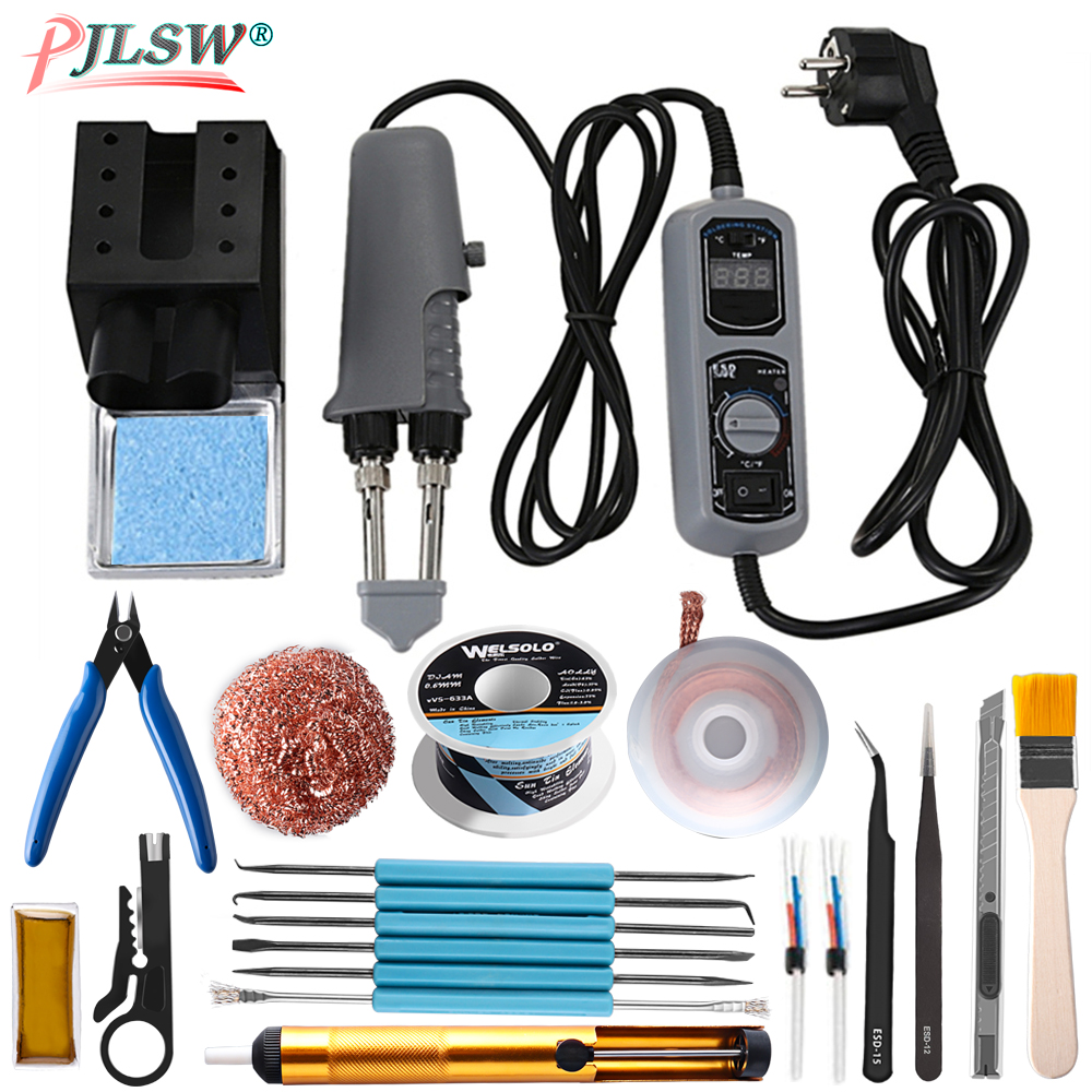 938D Tweezers Mini Soldering Iron Station Portable Hot Tweezer For BGA SMD Repairing Tweezer Iron 110 220V EU US Plug Irons