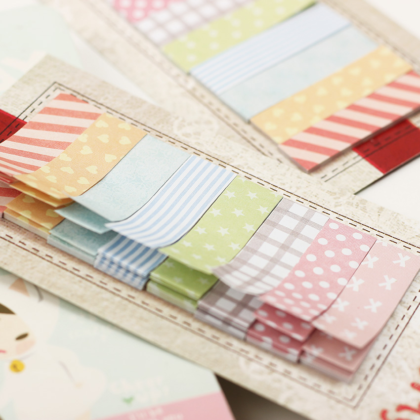 Lovely 160 Pages Sticker Bookmark Marker Memo Pad Flags Sticky Note Stationary Supplies 1PC