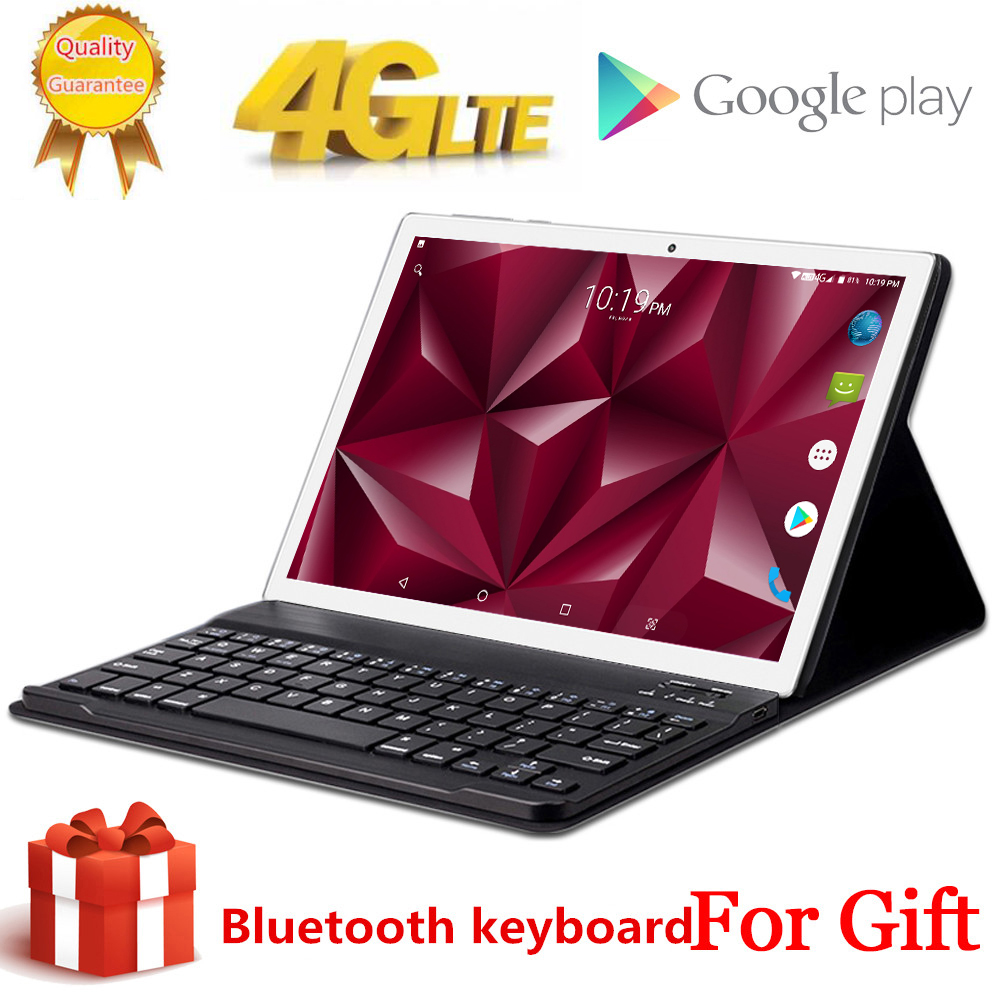 Free Gift BlueTooth Keyboard Tabletr 4G LTE 10.1 Inch 2.5D Tablet Pc 10 Deca Core MT6797 8GB RAM 128GB ROM Android 8.0 2560*1600