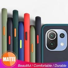 Skin Feel Soft Silicone Bumper Hard PC Matte Back Case For Xiaomi Xiomi Mi11 Me My Mi 11 Lite 11Lite Light 2021 5G Coque Fundas