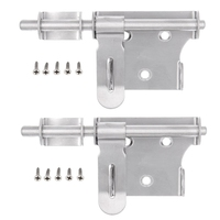 6 Inch Stainless Steel Security Barrel Latch Hasp with Padlock Hole for Fence Interior Door Brushed Finish      -