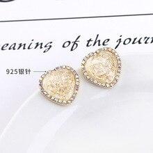 Women Brincos Boucle D Oreille Simple Fresh Loving Earrings Small Pentagon Star S925 Silver Needle Female Acrylic Stars