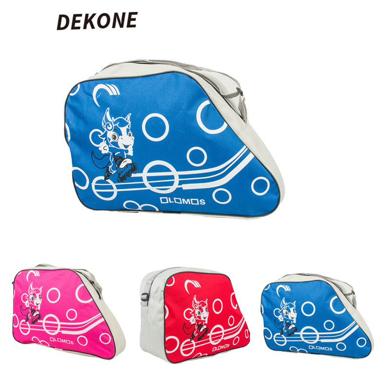 Hockey Skate Bag Blue Red Pink Waterproof Roller Skating Outdoor Ice Sport Accessories Bags New Style