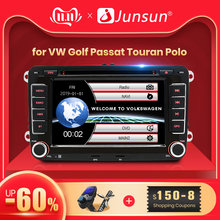 Junsun 2 din auto Radio Multimedia Player GPS para Volkswagen passat b6 VW golf Touran polo sedan Tiguan jetta Android DVD(China)