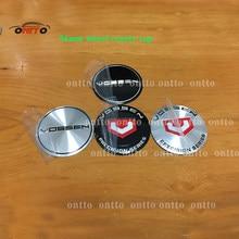 4 pçs estilo automático 56mm vossen centro da roda adesivo 65mm emblema emblema adesivos novo para tapas llantas calota centro 3d adesivo