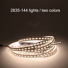 2835 Double Color Temperature LED Lamp With Waterproof Light Bar Cold Warm Two Bedroom Decoration