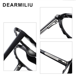 Image 3 - DEARMILIU 2020 New Womens Blue Light Blocking Glasses Round Frame Classic Flat Mirror Reading Computer Eyeglasses Lunettes