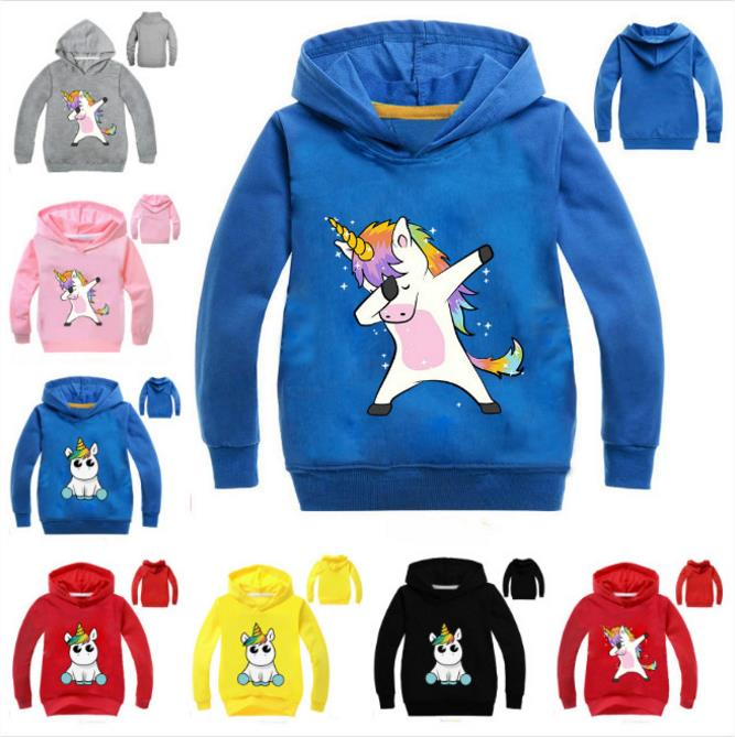 Hoodies Kid Sweatshirts Unicorn Jacket Jumper Baby-Girl Children New Warm Outwear Spring