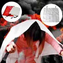 1 x 1 Meter Fire Blanket Fiberglass Fireproof Kitchen Caravan Campers Emergency Survival