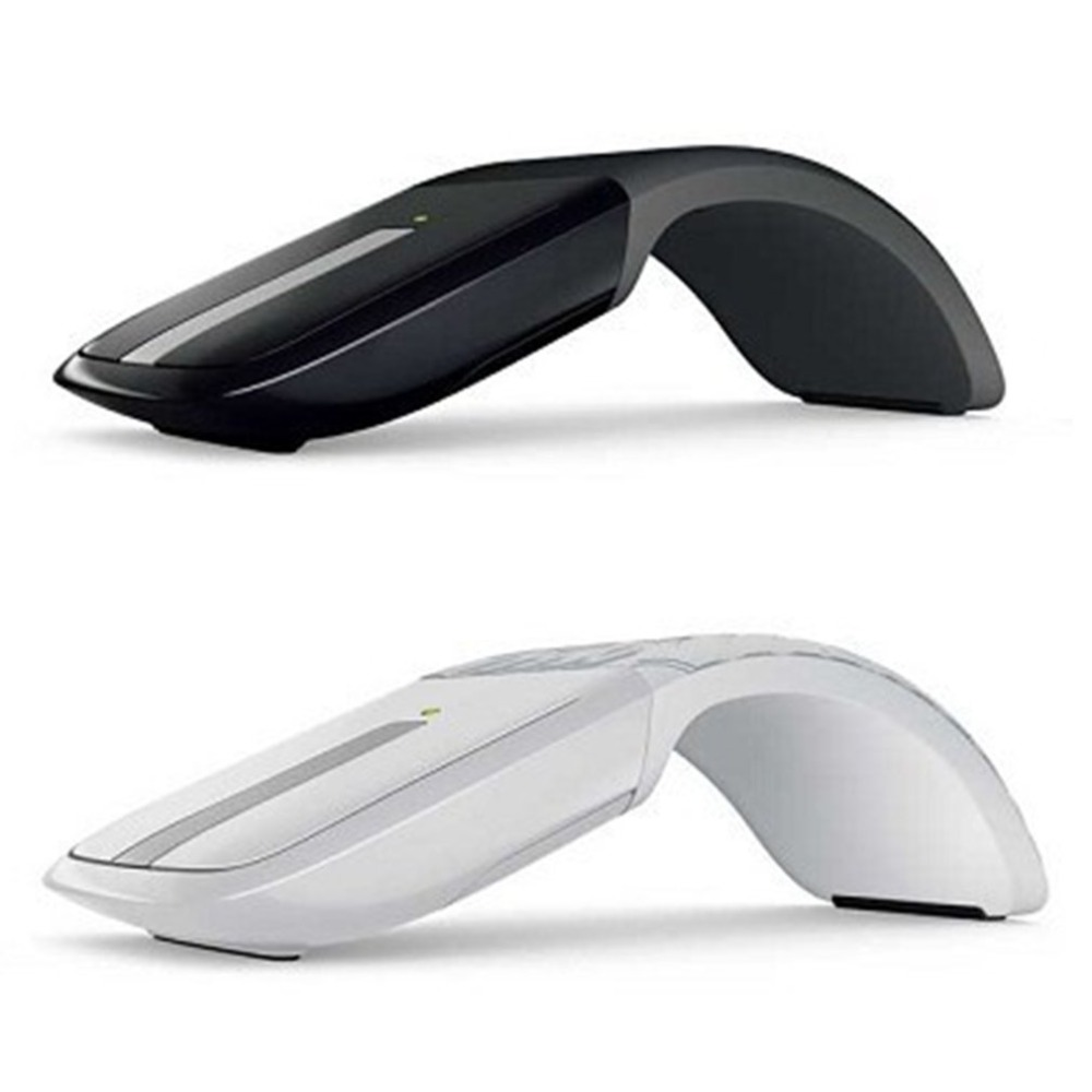 Portable Foldable Arc Touch Wireless Mouse Ultra-thin 2.4GHz Optical Mouse For PC Notebook Computer Home Office Use