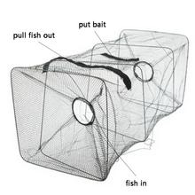 Fish Trap Net Fishing Gear Crab Prawn Shrimp Crayfish Lobster Crawdad Foldable Tools