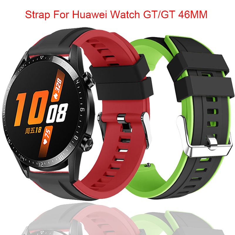 22MM Wrist Strap For Huawei Watch GT GT2 46MM Smart Bracelet Silicone Bands Sport Accessory For Samsung Galaxy Watch 46mm Correa