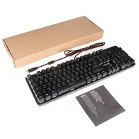 LESHP USB Wired 105 Keys Illuminated Professional Game Gaming Office Mechanical Keyboard with LED Adjustable Backlight