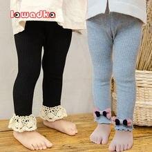 Lawadka/осенне зимние детские колготки для девочек кружевные