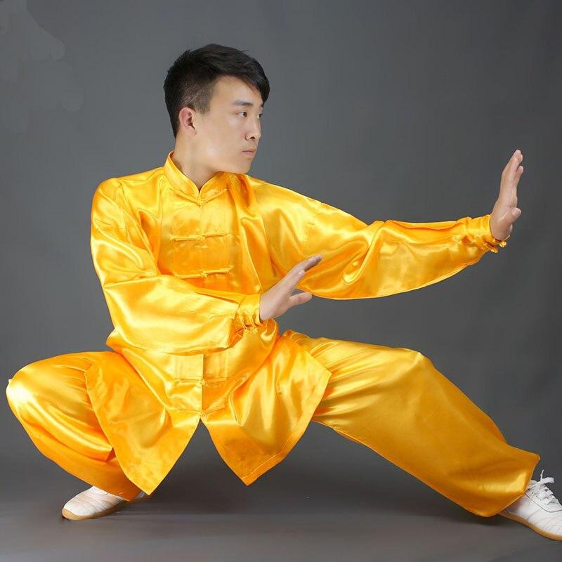 USHINE HX11 Biały Czarny żółty Tai Chi Odzież Sportowa Z Długim Rękawem KungFu Jednolite Wushu TaiChi Jednolite Dzieci Mężczyzna