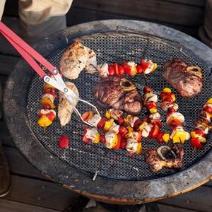 Image 5 - Estera antiadherente para parrilla de barbacoa, almohadillas de rejilla para hornear, accesorios de cocina, herramientas tostadoras reutilizables, 6 o 3 uds.