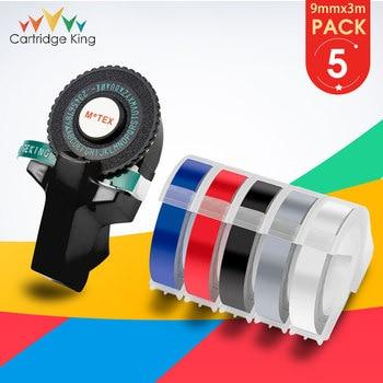 Black MoTex E101 Printer Mini DIY Hand Compatible for Dymo 3D Embossing Manual Tape Manual Typewriter Lettering Machine Printer
