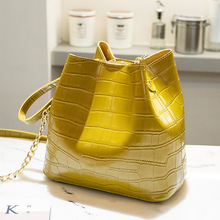 Ladies Crossbody Bag Fashion Crocodile Pattern PU Leather Bucket Bag Mother-in-law Bags Shoulder Bag Tote Bags For Women charming women s tote bag with crocodile print and pu leather design