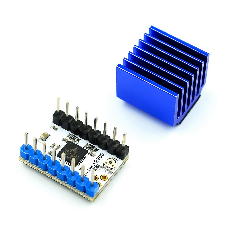 Tmc2208 stepstick motorista do motor de passo motorista mudo mks peças impressora 3d skr v1.3 rampas 1.4 1.6 placa controle