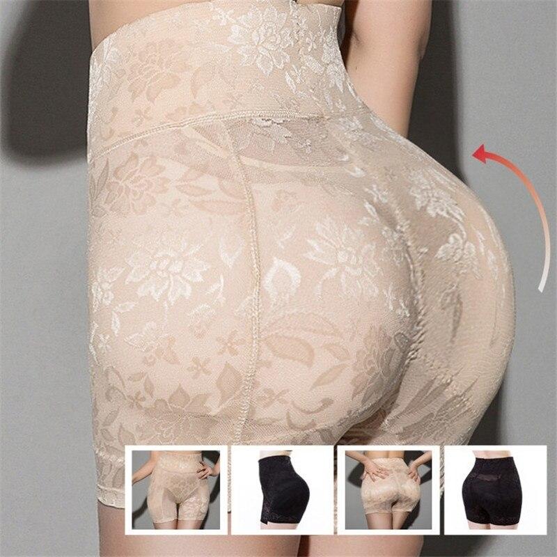 High Waist Women Body Shaper Seamless Bum Lifter Fake Ass Padded Panties Lace Hip Enhancing Underwear Shapewear Sexy Lingerie