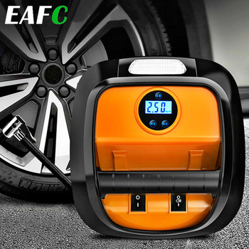 Car Portable Air Pump 12V Automobile Tire Fast Inflator Mini Electric Auto for Car LED Digital Display Air Compressor