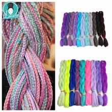 Luxury 1pack Navy Neon Olive Green Lavender Lilac Vintage Pink Synthetic Jumbo Braiding
