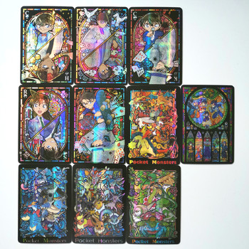 10 sztuk zestaw detektyw Conan Dragon Ball witraże zabawki Hobby Hobby kolekcje kolekcja gier Anime karty tanie i dobre opinie TOLOLO 8 ~ 13 Lat 14 lat i więcej Dorośli Chiny certyfikat (3C) C684 Fantasy i sci-fi