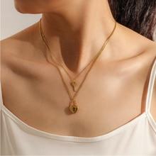 Pendants Charms Jewelry Necklaces Lock-Key Heart-Shape 316l-Stainless-Steel Women Upscale